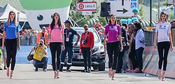 26.05.2017, Piancavallo, ITA, Giro d Italia 2017, 19. Etappe, Innichen (San Candido) nach Piancavallo, im Bild vier Models, die v.l. das Blaue, Rosa, Zyklamrote und Weiße Trikot präsentieren // girls present the blue, pink, red and white jersey during the 19 th stage of the 100 th Giro d Italia cycling race from Innichen (San Candido) to Piancavallo, Italy on 2017/05/26. EXPA Pictures © 2017, PhotoCredit: EXPA / Martin Huber