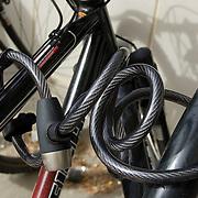 Bicycle locked to rack. Bike-tography by Martha Retallick.
