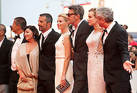 Emmanuel Carrere, Lynne Ramsay, Francesco Munzi, Elizabeth Banks, Pawel Pawlikowski, Diane Kruger and President Alfonso Cuaron at the gala screening for the film Everest and opening ceremony at the 72nd Venice Film Festival, Wednesday September 2nd 2015, Venice Lido, Italy.
