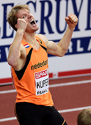 08-03-2015 CZE: European Athletics Indoor Championships, Prague<br /> Thijmen Kupers pakt de bronze medaille op de 400 meter