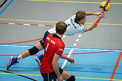 Mats Bleeker of Taurus in action during the league match Taurus - Amysoft Lycurgus on January 16, 2021 in Houten.