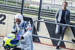 October 17, 2018 - Valencia, Spain - MASSA Felipe (bra), VENTURI Formula E Team talking with ex F1 driver Nico Rosberg  during the Formula E official pre-season test at Circuit Ricardo Tormo in Valencia on October 16, 17, 18 and 19, 2018. (Credit Image: © Xavier Bonilla/NurPhoto via ZUMA Press)