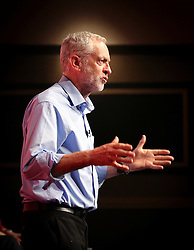 © Licensed to London News Pictures. 25/07/2015. Warrington, UK. Labour leadership candidate JEREMY CORBYN speaking at a Labour Party leadership hustings in Warrington . Photo credit: Joel Goodman/LNP