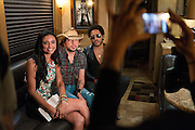Jason Aldean and Lenny Kravitz photographed on June 8, 2013 at the CMA Music Festival 2013.