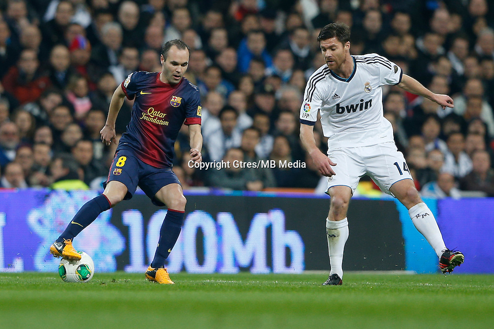 30.01.2013 SPAIN -  Copa del Rey 12/13 Matchday 1/4  match played between Real Madrid CF vs  F.C. Barcelona (1-1) at Santiago Bernabeu stadium. The picture show Andres Iniesta Lujan (Spanish midfielder of Barcelona)