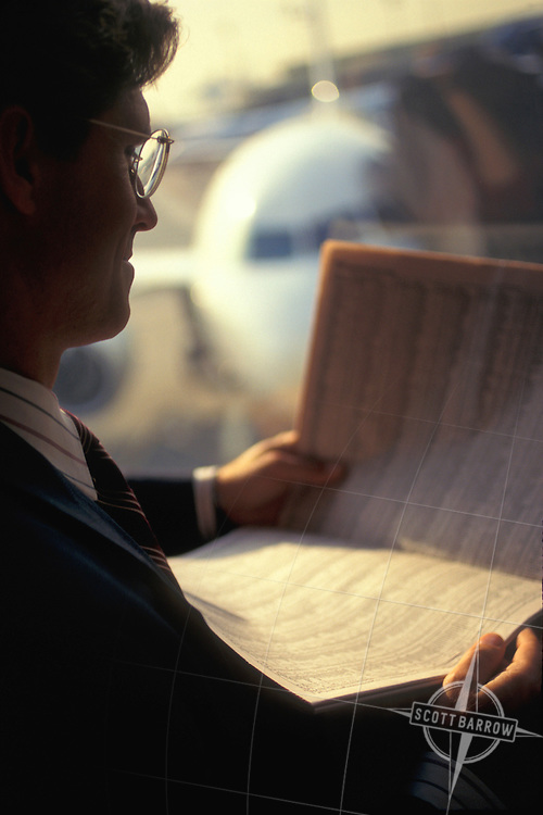 Executive Waiting for Flight
