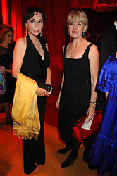 Left to right, MARIE HELVIN and SELINA SCOTT at a dinner held at the Natural History Museum to celebrate the re-opening of their store at 175-177 New Bond Street, London on 17th October 2007.<br /><br />NON EXCLUSIVE - WORLD RIGHTS