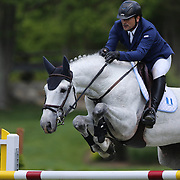Juan Pablo Pivaral riding Zippco CC in action during the $100,000 Empire State Grand Prix presented by the Kincade Group during the Old Salem Farm Spring Horse Show, North Salem, New York,  USA. 17th May 2015. Photo Tim Clayton