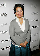 """Debra Lee pictured at the cocktail party celebrating Sean """"Diddy"""" Combs appearance on the """" Black on Black """" cover of L'Uomo Vogue's October Music Issue"""