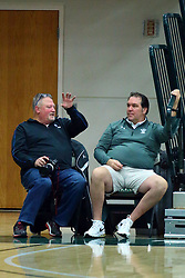 17 November 2017:  Jeff Findley & TonyRobbins during an College men's division 3 CCIW basketball game between the Alma Scots and the Illinois Wesleyan Titans in Shirk Center, Bloomington IL