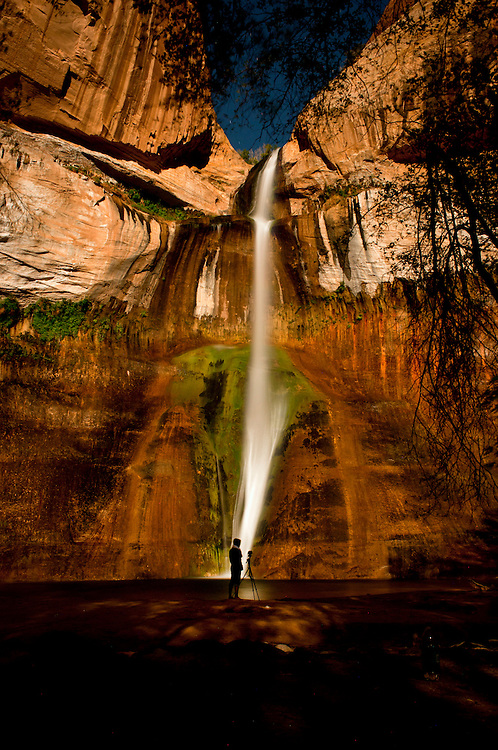 """{Calf Creek Falls : 2014}<br /> It has taken me some time to organize my travel Journals and Maps from the past few years. I am finally getting to the point where I am scanning and sharing some of my most personal documents while out adventuring. Check out a story I wrote on my Hike to Calf Creek Falls in the link below. It includes photos of my journals entries, hike guidelines, maps of the area, and other goodies. Here is an excerpt from the post:<br /> David was dressed in khaki jorts (jean shorts), wearing weathered boots, and a shirt that said """" Nothing scares me""""---seems like a guy you can trust. He was actually very knowledgeable on the area and, after a little small talk, he convinced us to embark on this hike that he described as """"magical"""", """"Serene"""", and""""secluded"""". As photographers, this sounded pretty amazing, so we stayed. Just a little foreshadowing, I thanked David and brought him breakfast the next morning. I also later sent him an image of the waterfall that I photographed at Midnight. That's how thankful I was that he randomly stopped us just to suggest we take this hike."""