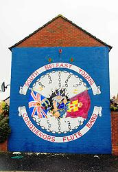 Mural on house gable in Belfast, Northern Ireland<br /> <br /> (c) Andrew Wilson | Edinburgh Elite media