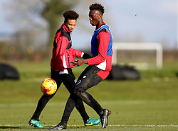 Bobby Reid of Bristol City and Tammy Abraham of Bristol City take part in training - Mandatory by-line: Robbie Stephenson/JMP - 19/01/2017 - FOOTBALL - Bristol City Training Ground - Bristol, England - Bristol City Training