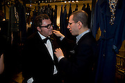 Alber Elbaz; jonathan Newhouse, The Launch of the Lanvin store on Mount St. Presentation and cocktails.  London. 26 March 2009