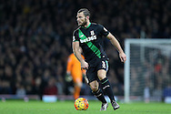 Erik Pieters of Stoke City in action. Barclays Premier league match, West Ham Utd v Stoke city at the Boleyn Ground, Upton Park  in London on Saturday 12th December 2015.<br /> pic by John Patrick Fletcher, Andrew Orchard sports photography.