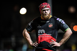 Dragons' Joseph Davies<br /> <br /> Photographer Craig Thomas/Replay Images<br /> <br /> EPCR Champions Cup Round 4 - Newport Gwent Dragons v Newcastle Falcons - Friday 15th December 2017 - Rodney Parade - Newport<br /> <br /> World Copyright © 2017 Replay Images. All rights reserved. info@replayimages.co.uk - www.replayimages.co.uk