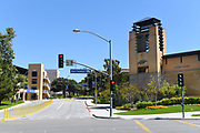 Parking Garage and Student Center on the Campus of the University of California Irvine, UCI, at West Peltason and Pereira Drive