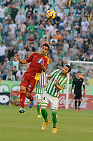 Dimas (L) and Ruben Castro (R) during the match between Real Betis and Recreativo de Huelva day 10 of the spanish Adelante League 2014-2015 014-2015 played at the Benito Villamarin stadium of Seville. (PHOTO: CARLOS BOUZA / BOUZA PRESS / ALTER PHOTOS)