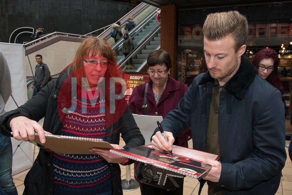 Bristol City's Wade Elliott signs autographs - Photo mandatory by-line: Dougie Allward/JMP - Mobile: 07966 386802 - 11/03/2015 - SPORT - Football - Bristol - Cabot Circus Shopping Centre - Johnstone's Paint Trophy