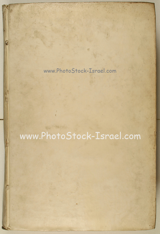 Blank parchment page from a book printed in 1542 with space for text or image