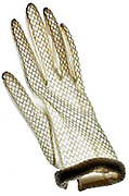 white translucent glove