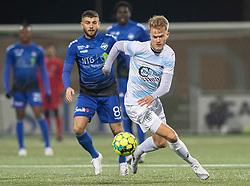 Andreas Smed (FC Helsingør) under kampen i 1. Division mellem HB Køge og FC Helsingør den 4. december 2020 på Capelli Sport Stadion i Køge (Foto: Claus Birch).