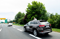 Official car during 1st Stage of 27th Tour of Slovenia 2021 cycling race between Ptuj and Rogaska Slatina (151,5 km), on June 9, 2021 in Slovenia. Photo by Vid Ponikvar / Sportida
