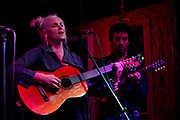 Kate Carter and Jeremy Baron at the MayQueen and the Foxfire record release party.