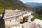 Houses in the village of Bubion, High Alpujarras, Sierra Nevada, Granada province, Spain