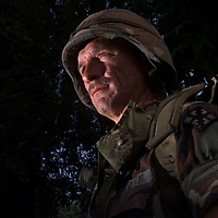 (PMONMOUTH) Middletown 6/14/2001  Howard Frick a US Army Reservist set the German Record for marching 14 miles with a 30 lb ruck sack ( back pack) during a competition there.   Michael J. Treola Staff Photographer...MJT