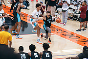 THOUSAND OAKS, CA Sunday, August 12, 2018 - Nike Basketball Academy. Samuel Williamson 2019 #18 of Rockwall HS dribbles. <br /> NOTE TO USER: Mandatory Copyright Notice: Photo by John Lopez / Nike