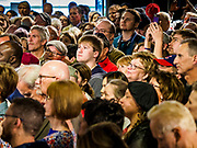 01 MAY 2019 - DES MOINES, IOWA: Part of the crowd at former Vice President Joe Biden's campaign appearance in Des Moines. Biden is running to be the Democratic nominee for the US Presidency in 2020. He is campaigning in Iowa City and Des Moines today. Iowa traditionally hosts the the first selection event of the presidential election cycle. The Iowa Caucuses will be on Feb. 3, 2020.             PHOTO BY JACK KURTZ