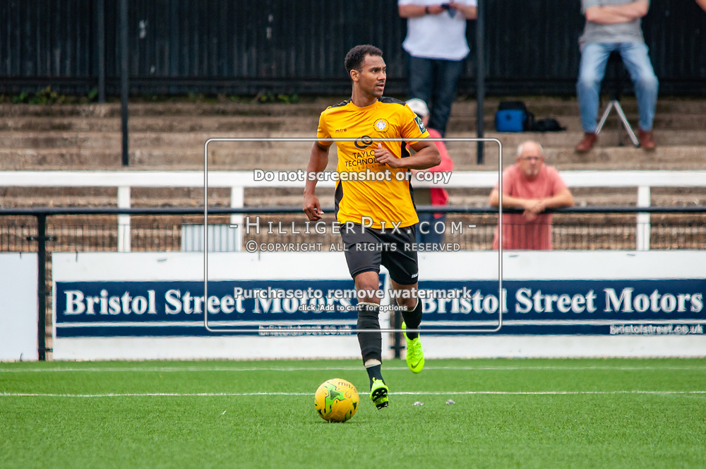 BROMLEY, UK - JULY 13: Mitchell Nelson, of Cray Wanderers FC, during the Pre-season friendly match between Cray Wanderers FC and Tonbridge Angels FC at Hayes Lane on July 13, 2019 in Bromley, UK. <br /> (Photo: Jon Hilliger)