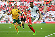 Ryan Bertrand of England controlling the ball during the FIFA World Cup Qualifier group stage match between England and Lithuania at Wembley Stadium, London, England on 26 March 2017. Photo by Matthew Redman.