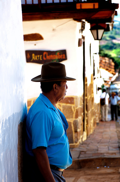 Colombia, Barichara, Colonial Town, Santander Province, Barichara Resident