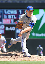 May 2, 2018 - Minneapolis, MN, U.S. - MINNEAPOLIS, MN - MAY 02: Toronto Blue Jays Pitcher Aaron Loup (62) delivers a pitch during a MLB game between the Minnesota Twins and Toronto Blue Jays on May 2, 2018 at Target Field in Minneapolis, MN.The Twins defeated the Blue Jays 4-0.(Photo by Nick Wosika/Icon Sportswire) (Credit Image: © Nick Wosika/Icon SMI via ZUMA Press)