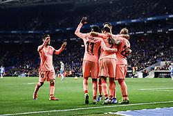 December 8, 2018 - Barcelona, BARCELONA, Spain - 09 Luis Suarez of FC Barcelona celebrating his goal with his team during the Spanish championship La Liga football match between RCD Espanyol v FC Barcelona on December 08, 2018 at RCD Stadium stadium in Barcelona, Spain. (Credit Image: © AFP7 via ZUMA Wire)