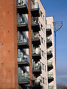 Balconies of modern apartments, Ipswich, England