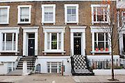 Georgian Terraces in Moore Park Road, Fulham, London SW6