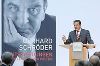 """26 OCT 2006, BERLIN/GERMANY:<br /> Gerhard Schroeder, SPD, Bundeskanzler a.D., waehrend einer Pressekonferenz zur Vorstellung seines Buches """"Entscheidungen. Mein Leben in der Politik"""", Willy-Brandt-Haus<br /> IMAGE: 20061026-01-042<br /> KEYWORDS: Gerhard Schröder, Autobiografie, Biografie, Buch"""
