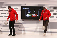 Garet Bale and Toni Kroos participates and receives new Audi during the presentation of Real Madrid's new cars made by Audi in Madrid. December 01, 2014. (ALTERPHOTOS/Caro Marin)