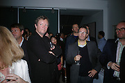 Kjetil Thorsenat  and Olafur Eliasson,.  Party hosted by Sir Richard and Lady Ruth Rogers at their house in Chelsea  to celebrate the extraordinary achievement of completing this year's Pavilion  by Olafur Eliasson and Kjetil Thorsenat at the Serpentine.  13 September 2007. -DO NOT ARCHIVE-© Copyright Photograph by Dafydd Jones. 248 Clapham Rd. London SW9 0PZ. Tel 0207 820 0771. www.dafjones.com.