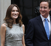 Carla Bruni; David Cameron French President UK Visit, Downing Street, Whitehall, London, UK, 18 June 2010. For piQtured Sales contact: Ian@piqtured.com Tel: +44(0)791 626 2580 (Picture by Richard Goldschmidt/Piqtured)
