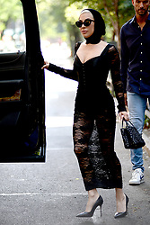 May 29, 2018 - New York, New York, U.S. - Singer LADY GAGA was seen wearing a black head scarf and sunglasses in New York City. (Credit Image: © Kristin Callahan/Ace Pictures via ZUMA Press)