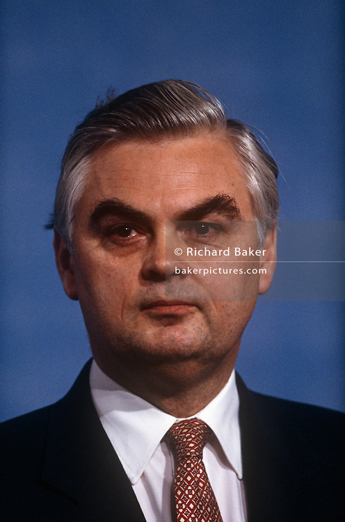 Chancellor of the Exchequer and Conservative MP, Norman Lamont at the Conservative party conference on 11th October 1991 in Blackpool, England.
