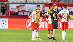 24.08.2016, Red Bull Arena, Salzburg, AUT, UEFA CL, FC Red Bull Salzburg vs Dinamo Zagreb, Play off, Rueckspiel, im Bild Valon Berisha (FC Red Bull Salzburg), Munas Dabbur (FC Red Bull Salzburg) // during the UEFA Championsleague Play off 2nd Leg Match between FC Red Bull Salzburg and Dinamo Zagreb at the Red Bull Arena in Salzburg, Austria on 2016/08/24. EXPA Pictures © 2016, PhotoCredit: EXPA/ JFK