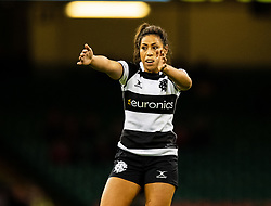 Sene Naoupu of Barbarians<br /> <br /> Photographer Simon King/Replay Images<br /> <br /> Friendly - Wales v Barbarians - Saturday 30th November 2019 - Principality Stadium - Cardiff<br /> <br /> World Copyright © Replay Images . All rights reserved. info@replayimages.co.uk - http://replayimages.co.uk