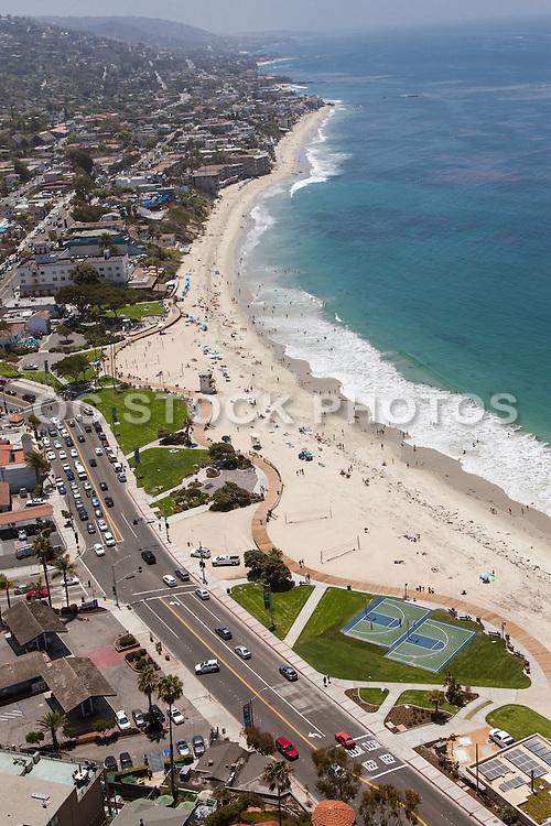 Laguna Beach South Facing Aerial Stock Photo