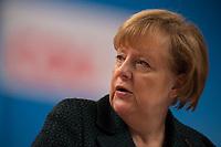 09 DEC 2014, KOELN/GERMANY:<br /> Angela Merkel, CDU, Bundeskanzlerin, waehrend eienr Rede, CDU Bundesparteitag, Messe Koeln<br /> IMAGE: 20141209-01-070<br /> KEYWORDS: Party Congress