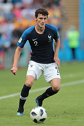 June 16, 2018 - Kazan, Kazan, France - defender Benjamin Pavard of France National team during a  Group C 2018 FIFA World Cup soccer match between France and Australia on June 16, 2018, at the Kazan Arena in Kazan, Russia. (Credit Image: © Anatolij Medved/NurPhoto via ZUMA Press)